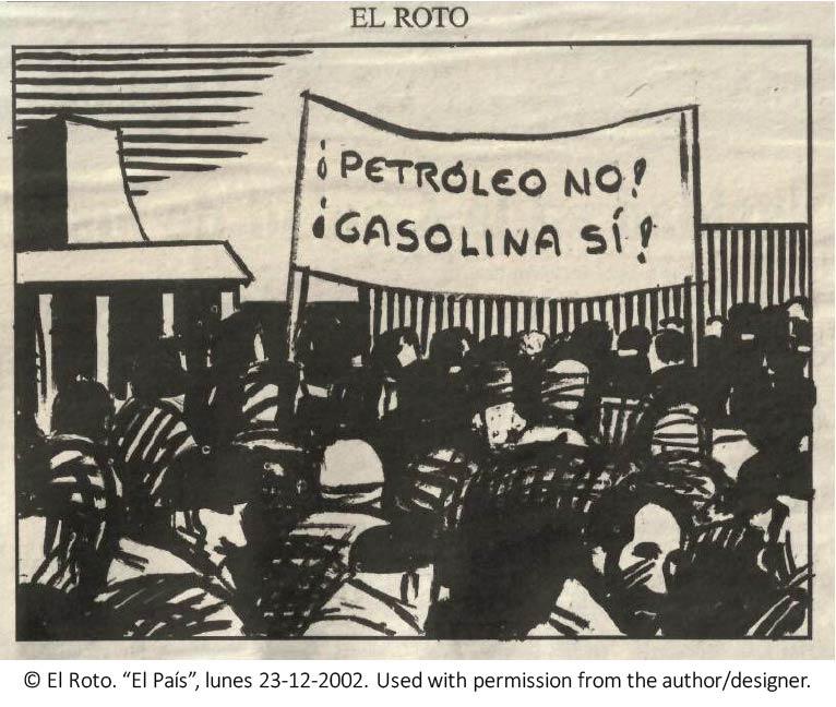 El Roto: ¡Petróleo no! ¡Gasolina sí!